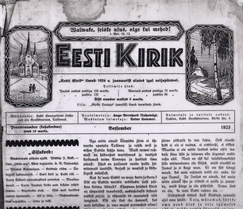 EestiKiriku_proovipäismik_1923